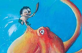Illustration de naissance – Gouache