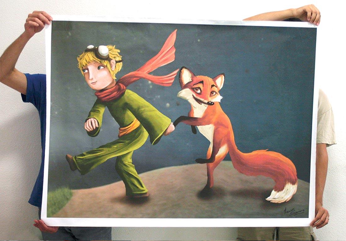 le petit prince  illustration mariage swing